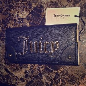 NWT Juicy Couture black wallet/billfold